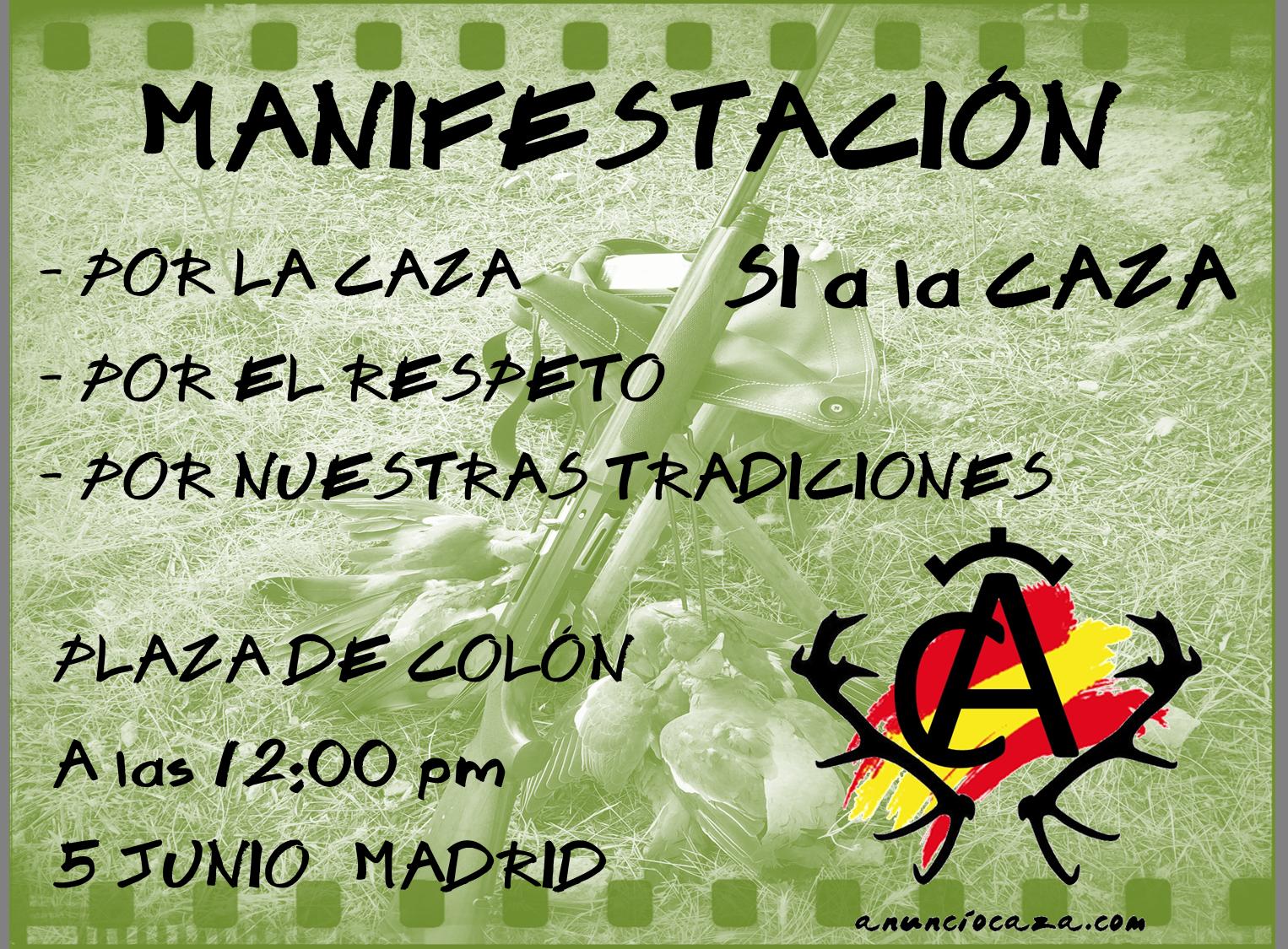 Manifestación 5 Junio Plaza de Colón MADRID