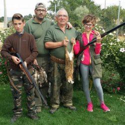 la caza en familia por tradición