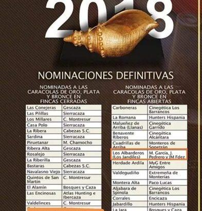 Monterías y Recechos J.C. & A.M. nominado a la Caracola de Oro