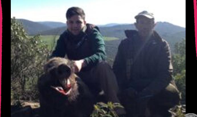 Con el maestro de caza (Ricardo)