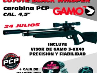 PCP calibre 4.5mm Coyote Black Whisper GAMO
