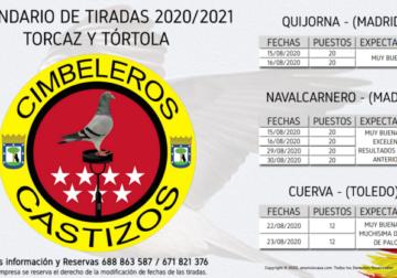 Calendario de Tiradas «Torcaz y Tórtola» 20 / 21